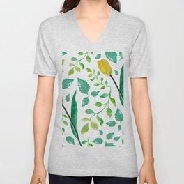 Floral Unisex V-Neck