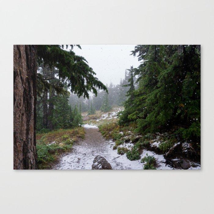 The First Mountain Snowfall Canvas Print