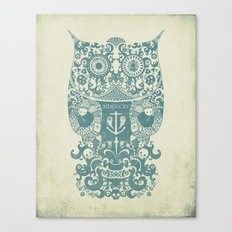 The Old Owl - Vintage edition Canvas Print