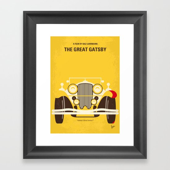 No206 My The Great Gatsby minimal movie poster Framed Art Print