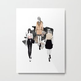 Fashionary 4 Metal Print