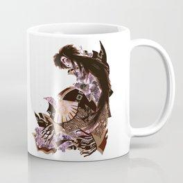 Floral Kabuki Fan Dancer Mug in Mauve and Sienna Coffee Mug