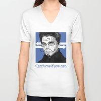 leonardo V-neck T-shirts featuring Leonardo DiCaprio by Pazu Cheng