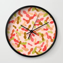 Tropical confetti Wall Clock
