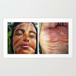 Self Portrait (Celica Ledesma) Art Print