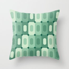 Rounded Rectangles in Broccoli Throw Pillow