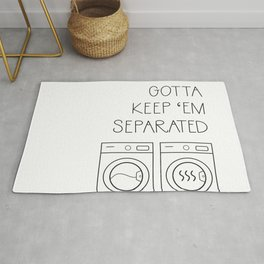 Gotta Keep 'em Separated Laundry Room Rug