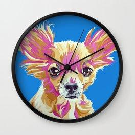 Lucas the chihuahua Wall Clock