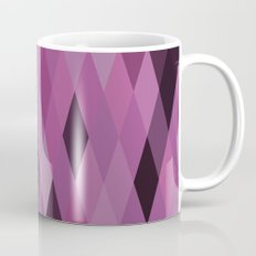 Muted Berry Color Harlequin Pattern Mug