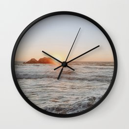 summer sunset iii / san francisco, california Wall Clock