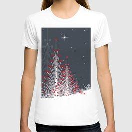 Christmas trees on the snow T-shirt