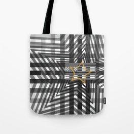 Stars and tripes Americana Greytone Tote Bag
