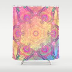 Psychedelic Kaleidoscope Shower Curtain