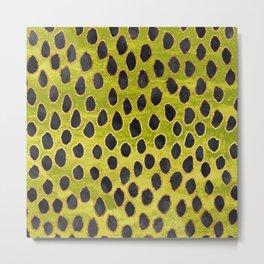 Pattern Play / Black, Gold & Green Metal Print
