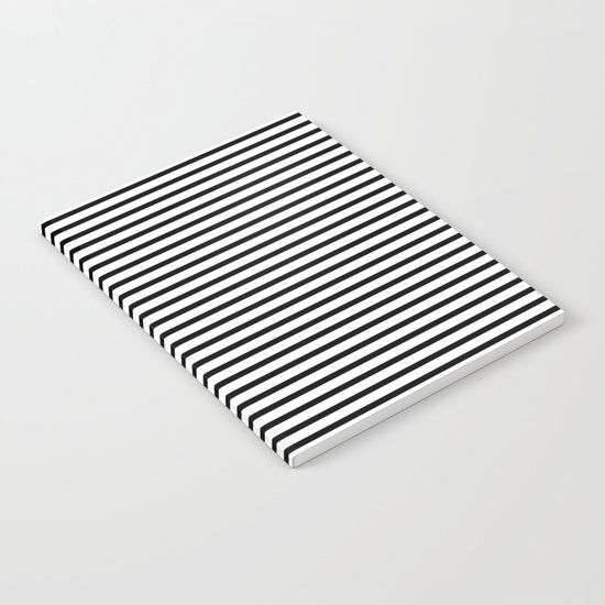 White Black Stripe Minimalist Notebook