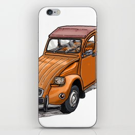 Orange 2CV iPhone Skin