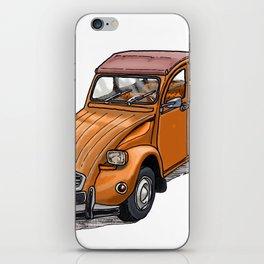 Orange 2CV iPhone Skin