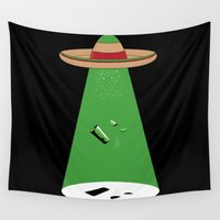 mexican Wall Tapestries featuring Mexican Abduction by Yuri Lobo