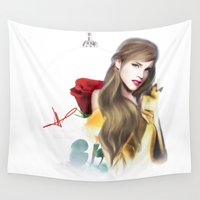 belle Wall Tapestries featuring Belle Watson by Clara J Aira