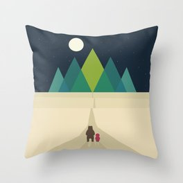 Long Journey Throw Pillow