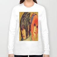 sasuke Long Sleeve T-shirts featuring Uchiha Sasuke & Haruno Sakura  by Aileen