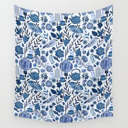 Chinoiserie Tea in the Garden Wall Tapestry