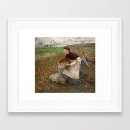 October by Jules Bastien-LePage Framed Art Print