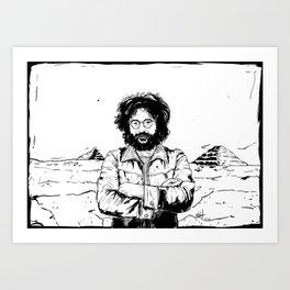Jerry García Art Print