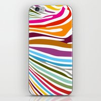 zebra iPhone & iPod Skins featuring Zebra by graphicinvasion