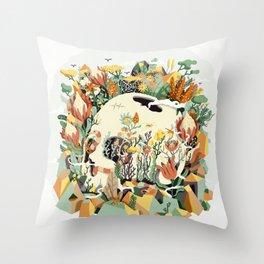 Skull & Fynbos Throw Pillow