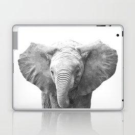 Black and White Baby Elephant Laptop & iPad Skin