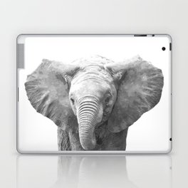 Black and White Baby Elephant Laptop & iPad Skin