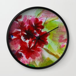 Grandiose Geraniums Wall Clock