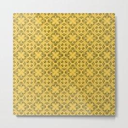 Primrose Yellow Shadows Metal Print