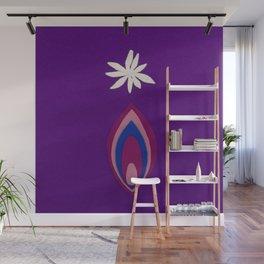 de Flower [purple] Wall Mural