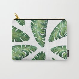 Tropical Banana Leaves #society6 #buyart Carry-All Pouch