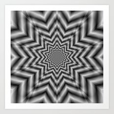 Optically Challenging Star in Black and White Art Print