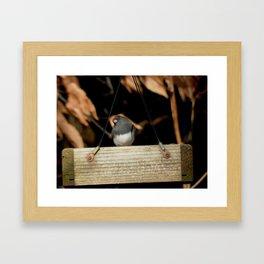 Little puffy Framed Art Print