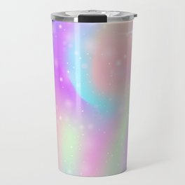 Rainbow Unicorn Watercolor Travel Mug