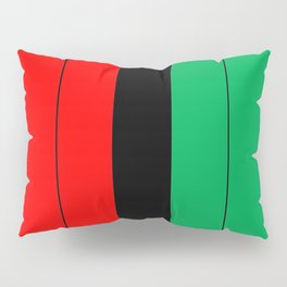 Kwanzaa Red Black Green Stripes Pillow Sham