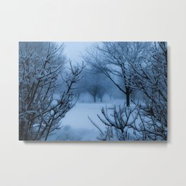 Foggy Winter Solstice Metal Print