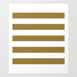 Metallic Sunburst -  solid color - white stripes pattern Art Print