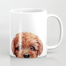 Toy poodle red brown Dog illustration original painting print Coffee Mug