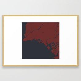 Minimalist Modern Map of Karachi, Pakistan 3 Framed Art Print