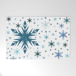 Frosty Abstract Welcome Mat