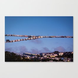 Little Boxes Off the Hillside Canvas Print