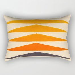 Vintage Scandinavian Orange Geometric Triangle Pattern Rectangular Pillow
