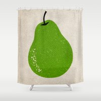 pear Shower Curtains featuring Pear by Roland Lefox