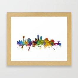 Knoxville Tennessee Skyline Framed Art Print