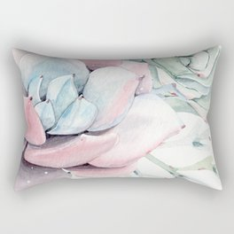 Garden of Succulents Rectangular Pillow